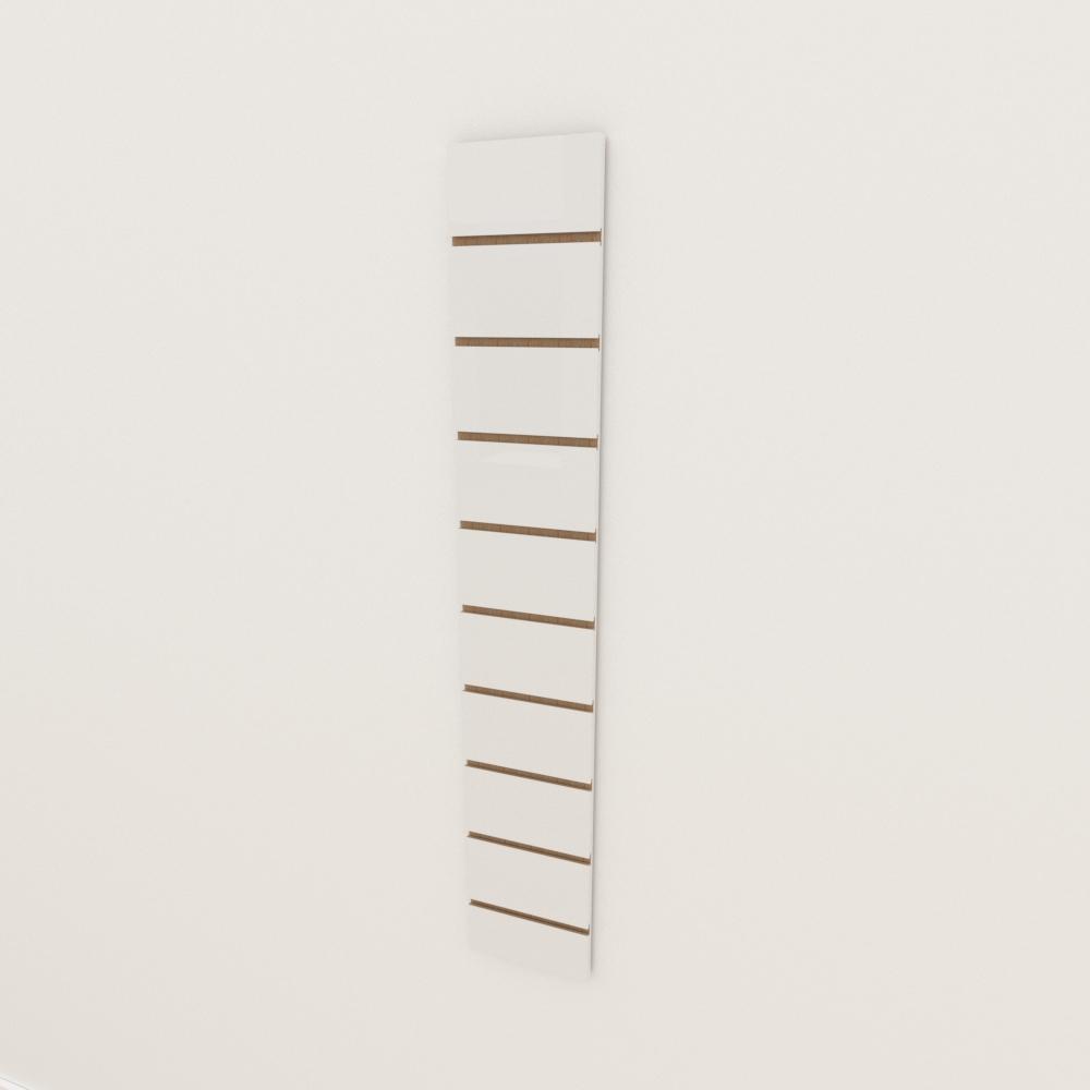 Painel canaletado 18mm Branco Texturizado altura 120 cm comp 20 cm