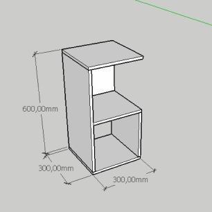 Mesa de cabeceira simples nicho em mdf preto