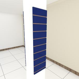 Kit 2 Painel canaletado para pilar azul escuro 2 peças 30(L)x120(A)cm
