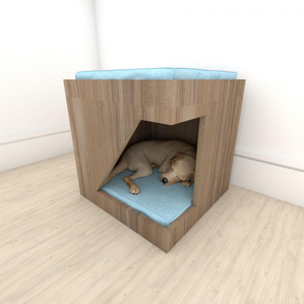 Mesa de cabeceira caminha bercinho para cachorro em mdf Amadeirado