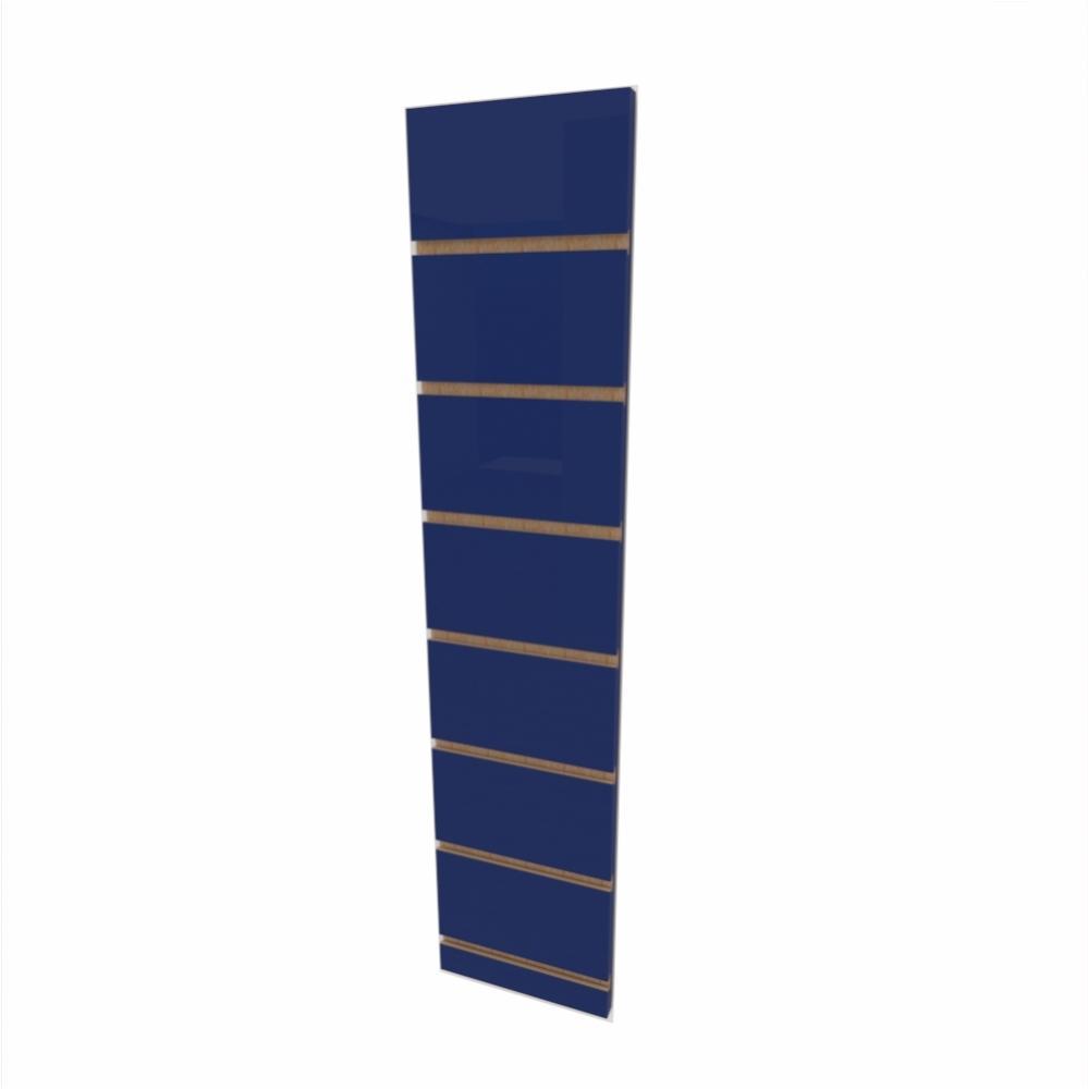 Expositor canaletado 18mm Azul Escuro Soft altura 90 cm comp 20 cm