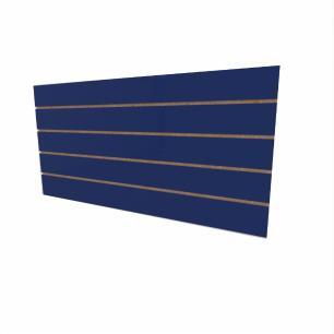 Expositor canaletado 18mm Azul Escuro Soft altura 60 cm comp 120 cm