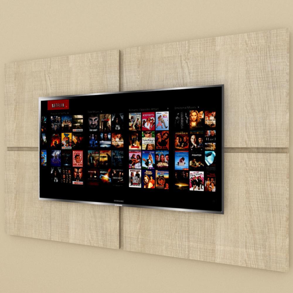 Painel Tv pequeno moderno amadeirado claro