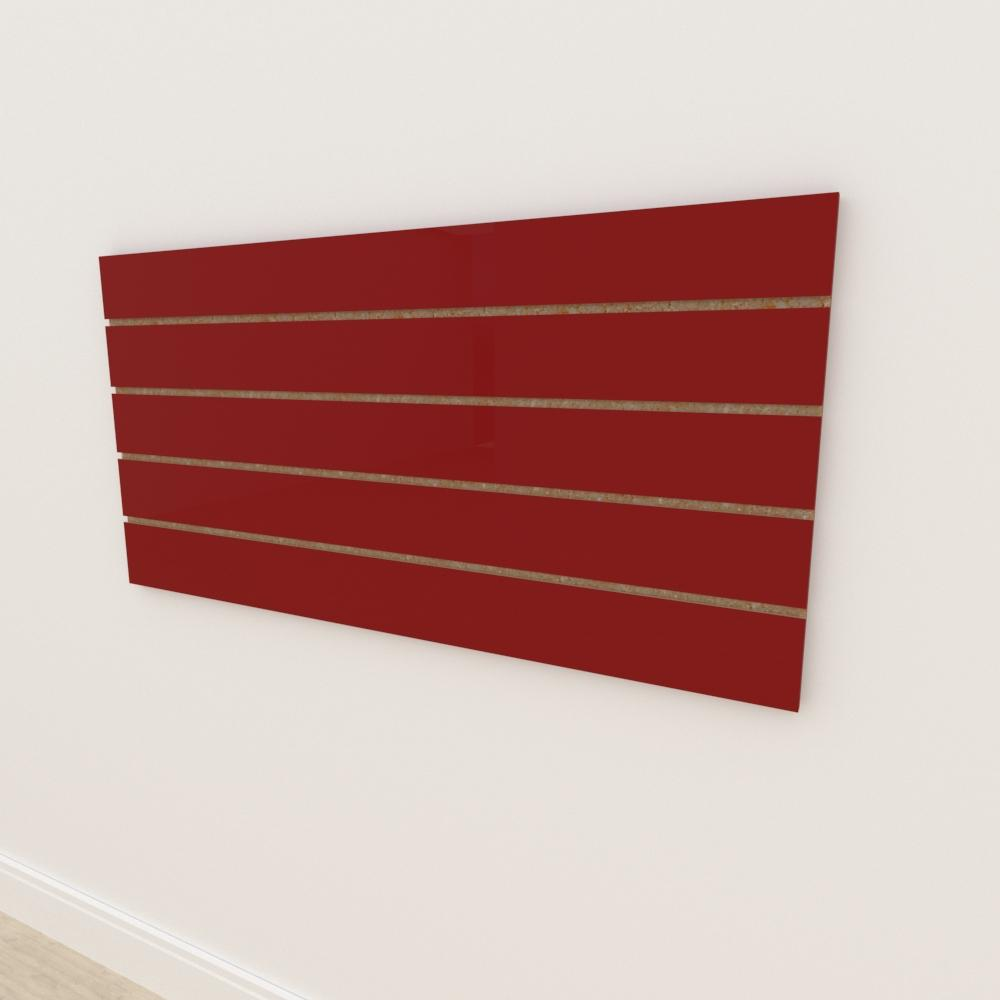 Painel canaletado 18mm Vermelho Escuro Tx altura 60 cm comp 120 cm