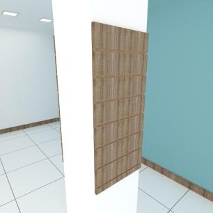 Kit 2 Painel canaletado para pilar amadeirado escuro 2 peças 40(L)x90(A)cm