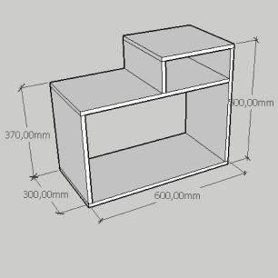 Mesa de cabeceira simples com nicho em mdf amadeirado