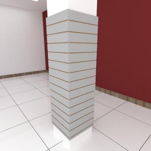 Kit 4 Painel canaletado para pilar cinza cristal 2 peças 54(L)x180(A)cm + 2 peças 50(L)x180(A)cm