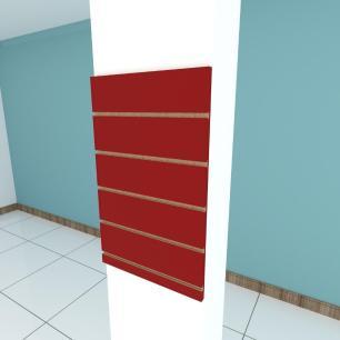 Painel canaletado para pilar vermelho escuro 1 peça 40(L)x60(A)cm