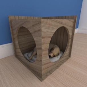 Mesa de cabeceira caminha simples pequeno cachorro em mdf amadeirado