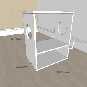 kit com 2 Mesa de cabeceira moderna com nicho em mdf Preto