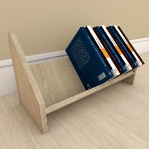 Kit com 2 Organizador para livros amadeirado claro