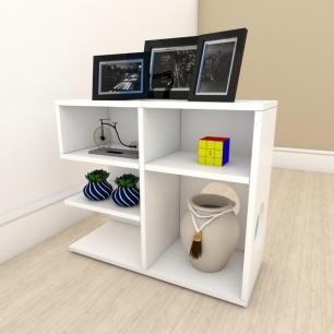 Mesa Lateral para sofá simples em mdf Branco