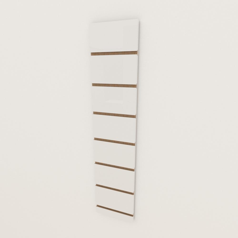 Painel canaletado 18mm Branco Texturizado altura 90 cm comp 20 cm