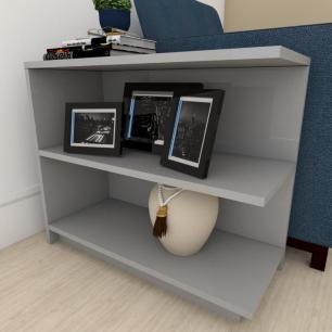 Mesa de cabeceira para sofá moderna Cinza