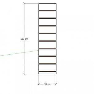 Painel canaletado para pilar cinza cristal 1 peça 30(L)x120(A)cm