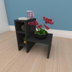 Mesa de centro minimalista em mdf preto