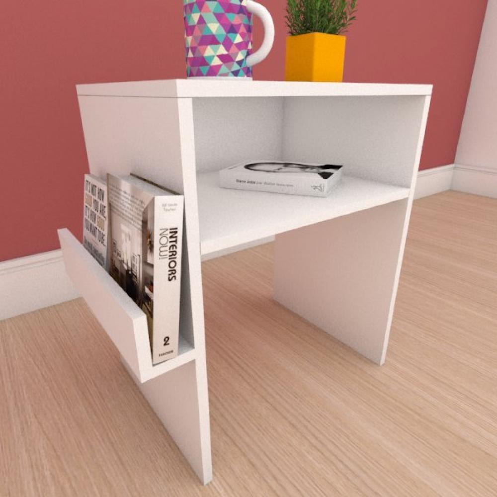 Estante de Livros com prateleira para livro em mdf branco
