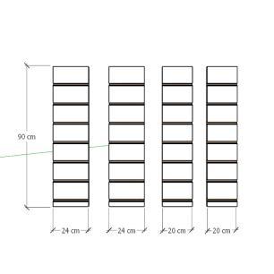 Kit 4 Painel canaletado para pilar preto 2 peças 24(L)x90(A)cm + 2 peças 20(L)x90(A)cm