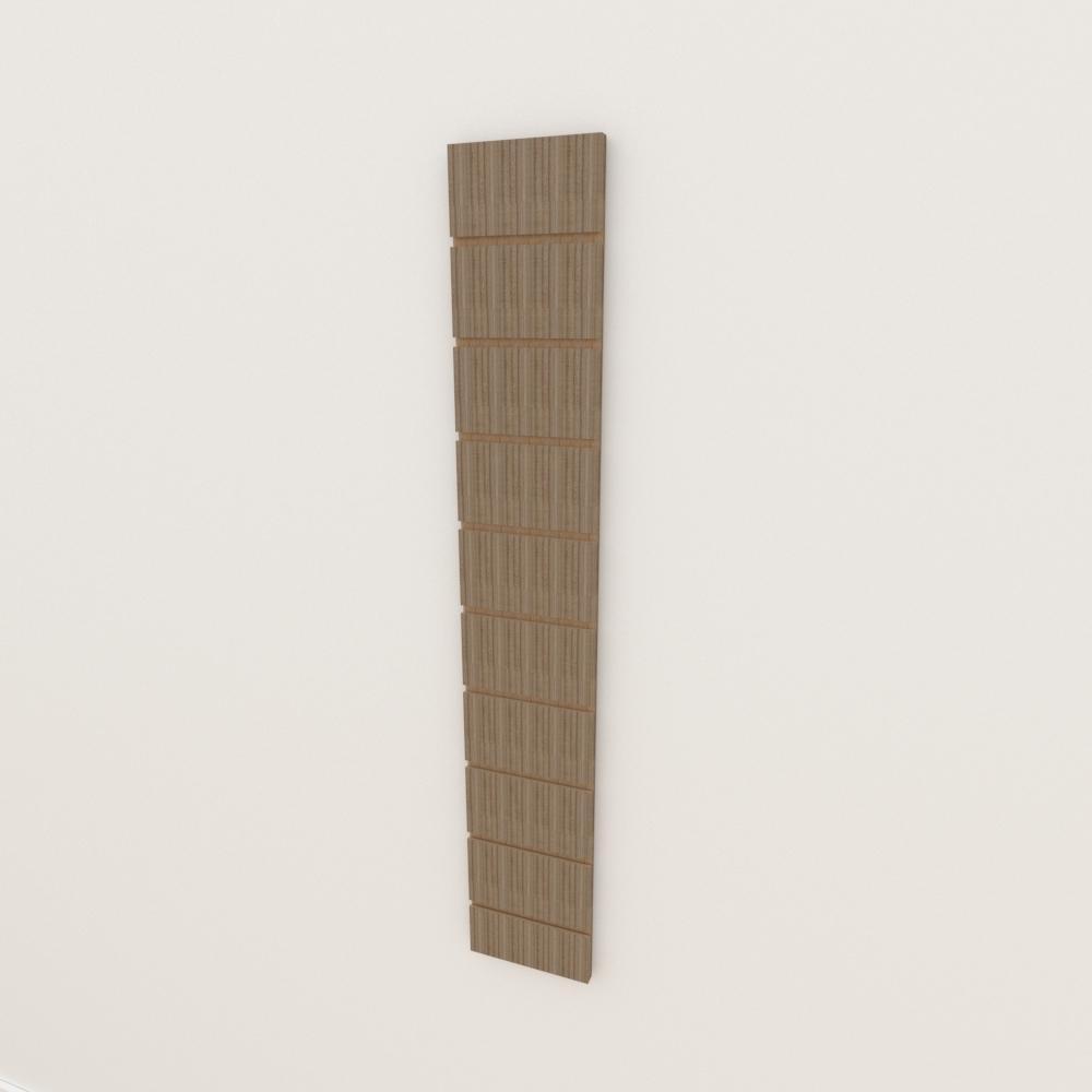 Painel canaletado 18mm amadeirado escuro altura 120 cm comp 20 cm