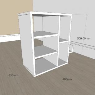 Estante escritório moderna com nicho em mdf Branco