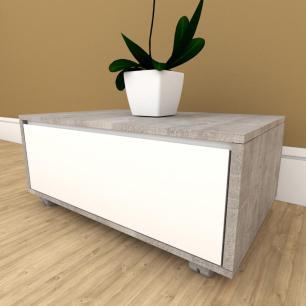 Mesa de centro moderna branco com rustico