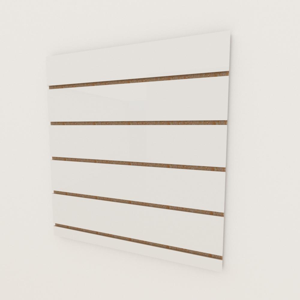 Painel canaletado 18mm Branco Texturizado altura 60 cm comp 60 cm