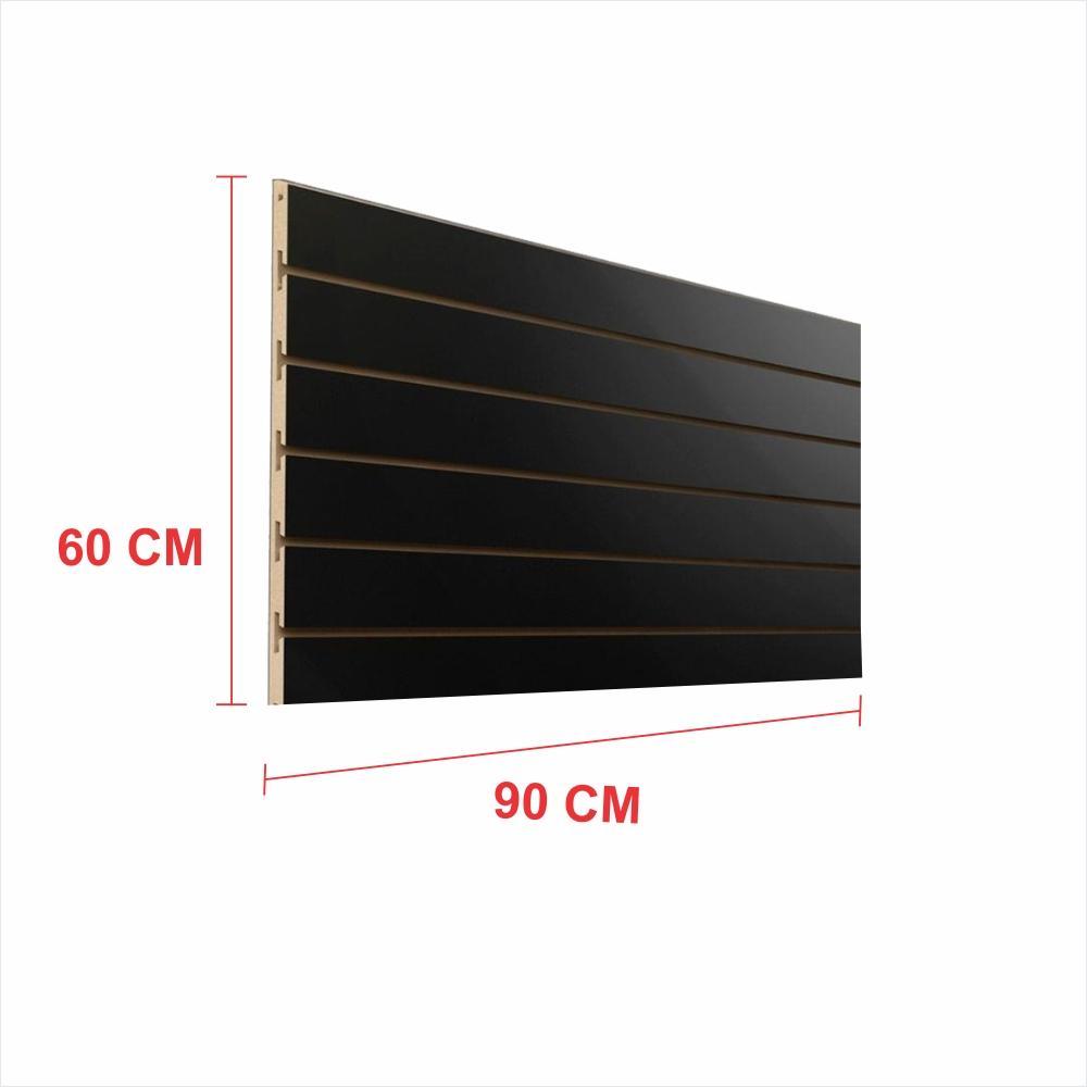 Painel canaletado 18mm preto altura 60 cm comp 90 cm