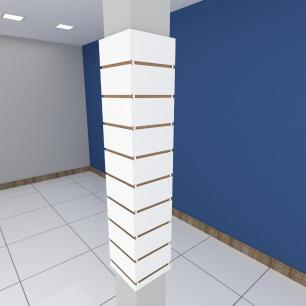 Kit 4 Painel canaletado para pilar branco 2 peças 24(L)x120(A)cm + 2 peças 20(L)x120(A)cm