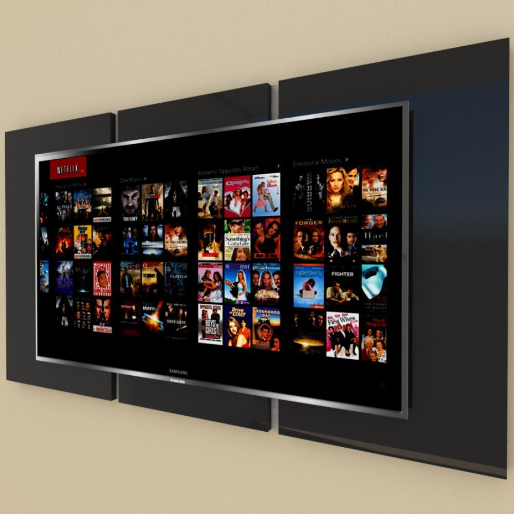 Painel Tv pequeno moderno preto com rustico