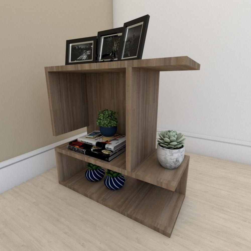 Mesa Lateral para sofá simples em mdf Amadeirado