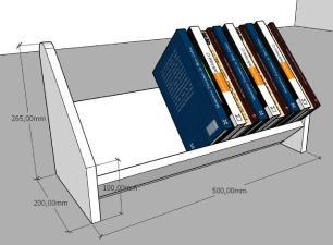 Organizador para livros amadeirado escuro