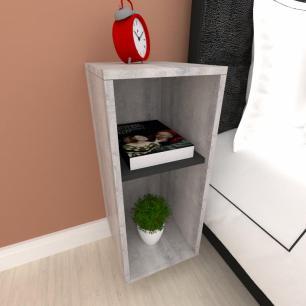 Mini estante para escritório em mdf Rustico com preto