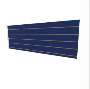 Expositor canaletado 18mm Azul Escuro Soft altura 60 cm comp 180 cm