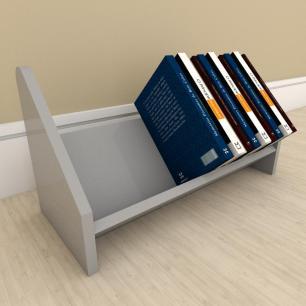 Kit com 2 Organizador para livros Cinza