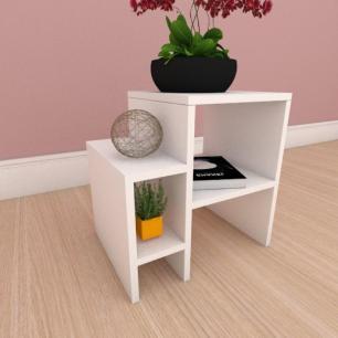 Mesa de cabeceira slim em mdf branco