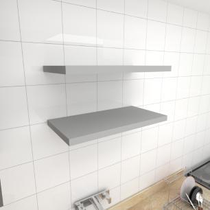 Kit 2 prateleiras para cozinha em MDF suporte Inivisivel cinza 60x30cm modelo pratcc23