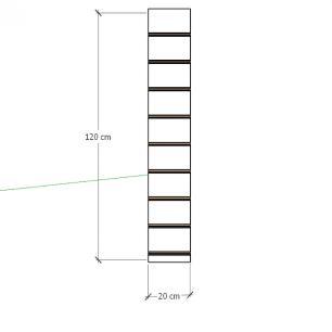 Painel canaletado para pilar amadeirado escuro 1 peça 20(L)x120(A)cm