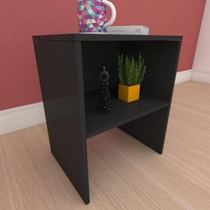 Kit com 2 Mesa de cabeceira em mdf preto