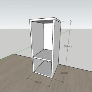 kit com 2 Mesa de cabeceira formato simples em mdf Cinza