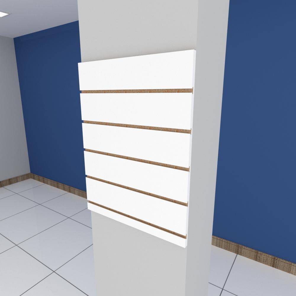 Painel canaletado para pilar branco 1 peça 50(L)x60(A)cm