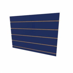 Expositor canaletado 18mm Azul Escuro Soft altura 60 cm comp 90 cm