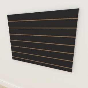Painel canaletado 18mm Preto Texturizado altura 90 cm comp 120 cm