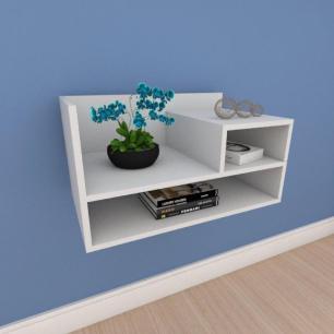 Mesa de cabeceira moderno compacto em mdf cinza