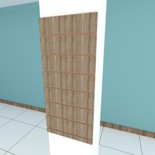 Painel canaletado para pilar amadeirado escuro 1 peça 30(L)x90(A)cm