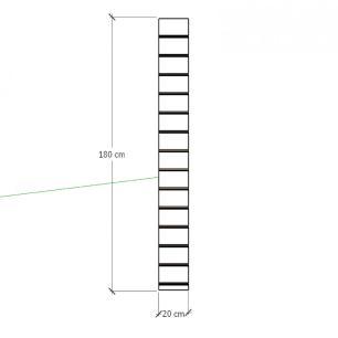 Painel canaletado para pilar amadeirado escuro 1 peça 20(L)x180(A) cm