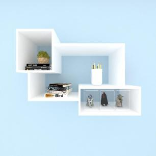 Kit de Nichos multi uso, moderno, todos em mdf Branco