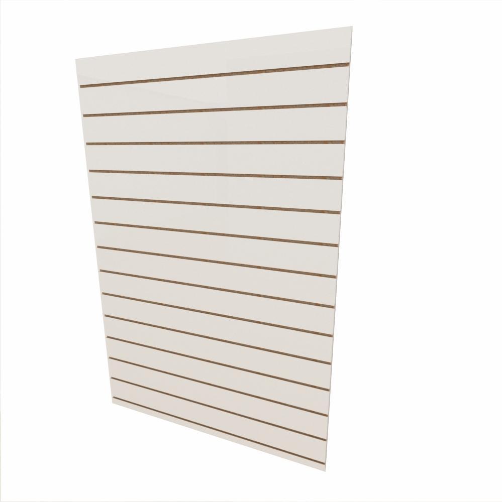 Expositor canaletado 18mm Branco Texturizado altura 180 cm comp 120 cm