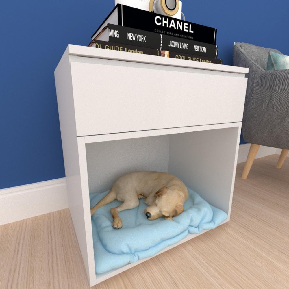 caminha criado cachorro cão gaveta mdf Cinza