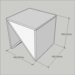 Kit com 2 Criado mudo, nichos modernos, em mdf Branco