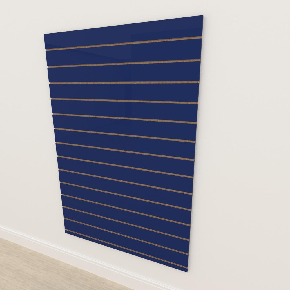 Painel canaletado 18mm Azul Escuro Soft altura 180 cm comp 120 cm